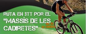 """Ruta Btt por el """"Massís de les Cadiretes"""" Enero"""