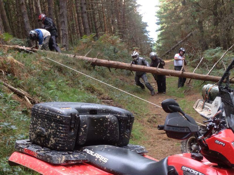 Obstáculos en camino
